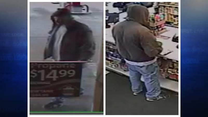 Surveillance images of Newberg convenience store robbery suspect. (Images: Newberg-Dundee PD, Crime Stoppers of Oregon)