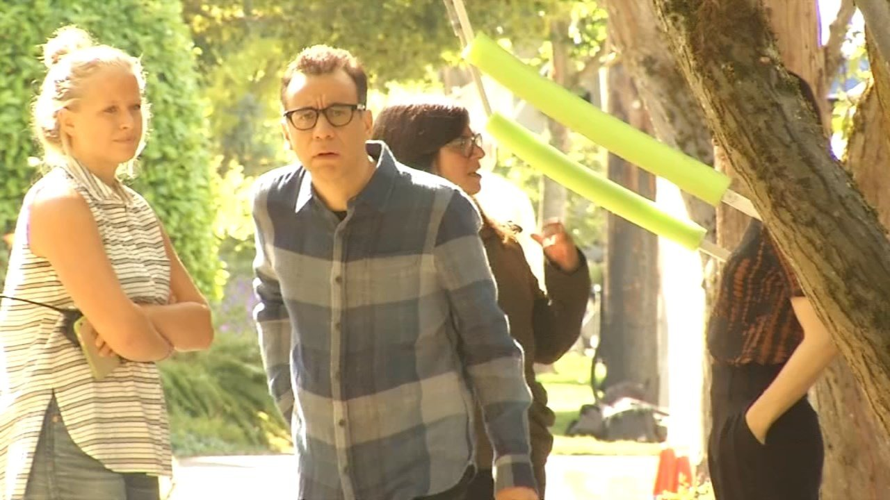 "Fred Armisen during filming of ""Portlandia"" (KPTV file image)"
