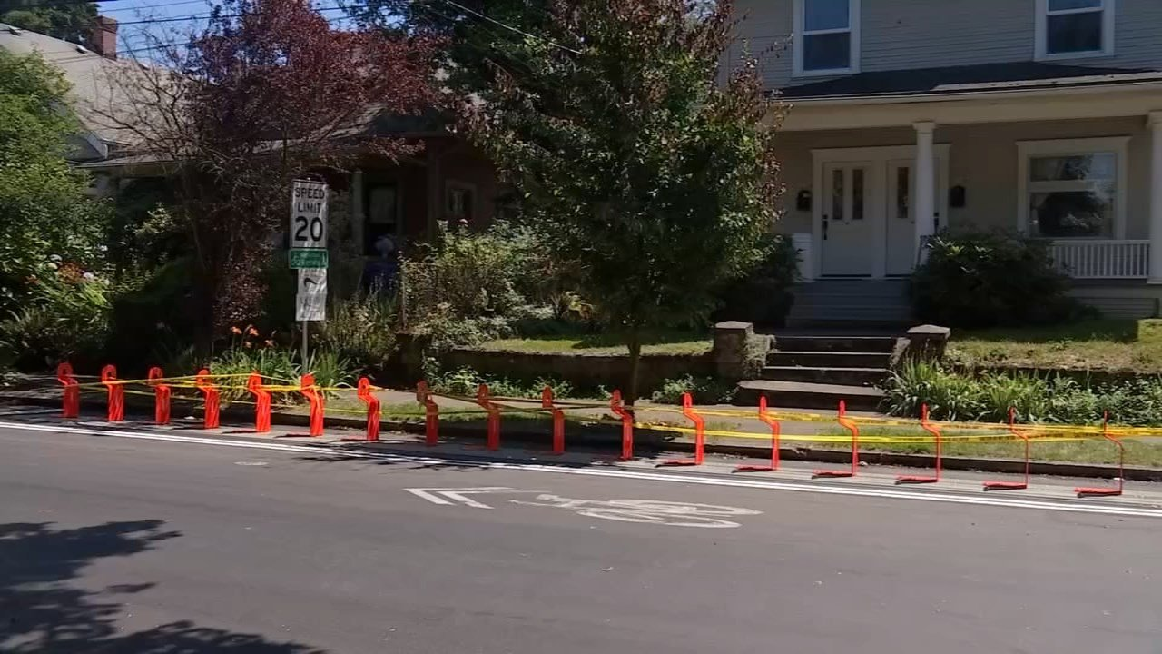 Bike station located at Southeast 39th and Taylor. (KPTV)