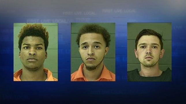 Mugshots: Deshone Brooks, Chance Pinkard, Austin Steed