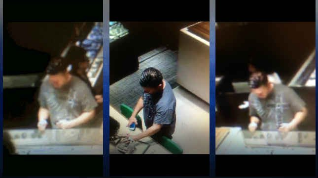 Surveillance images of the suspect (Photos: Tigard Police)