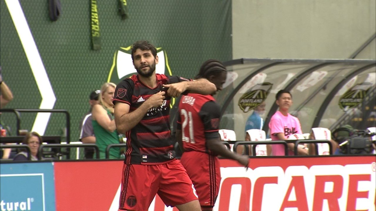 Diego Valeri scored two goals in the Timbers 3-1 victory over Seattle Sounders FC on Sunday. (Source: KPTV)