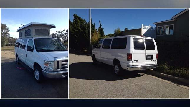 Photo of stolen van (Source: Portland Police Bureau)