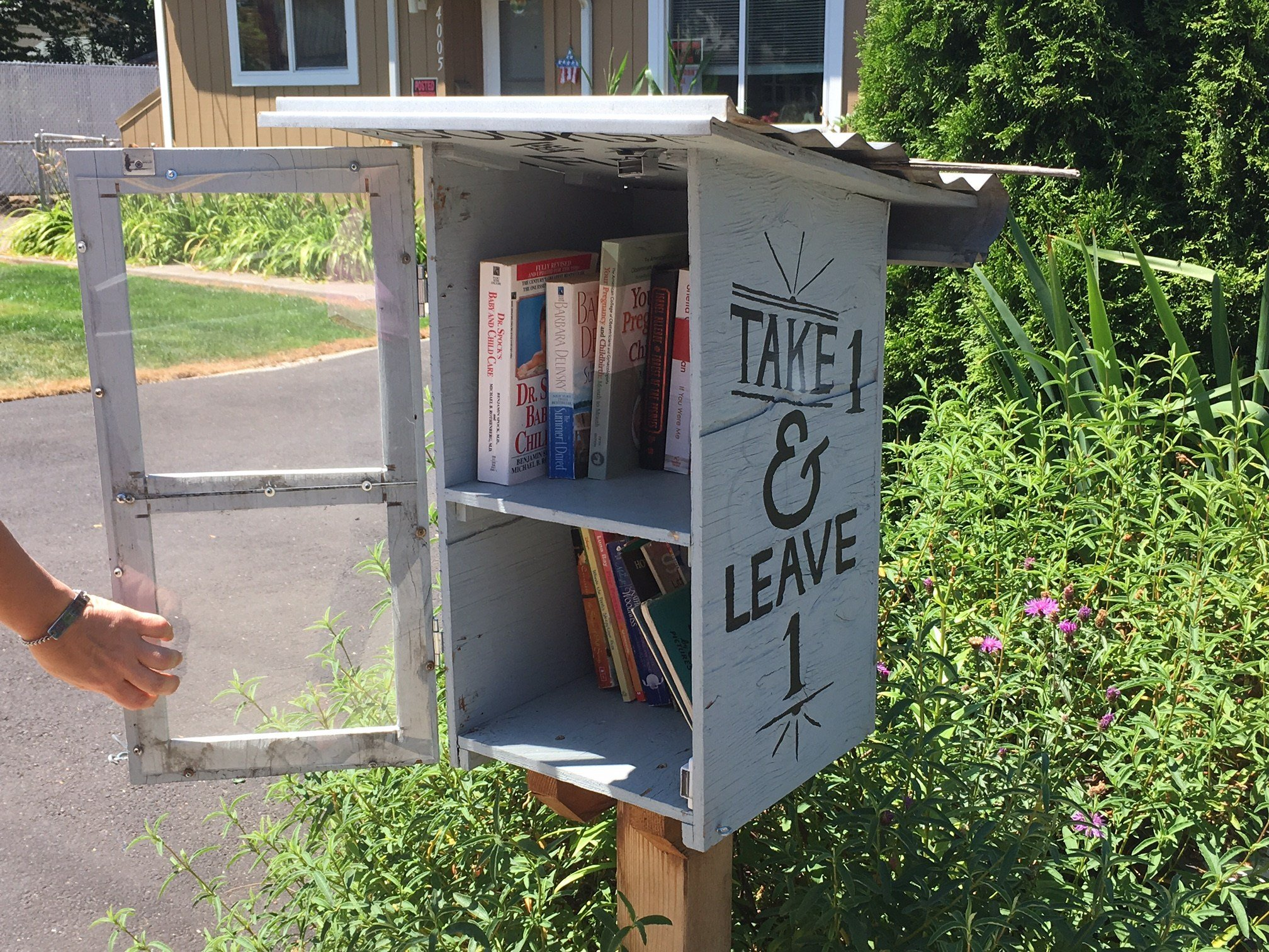 The book box in front of her home. (KPTV)