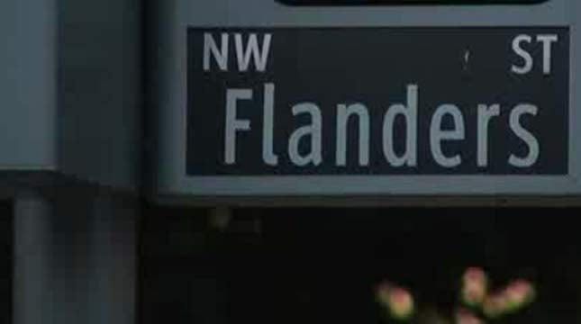 Northwest Flanders Street (KPTV file image)