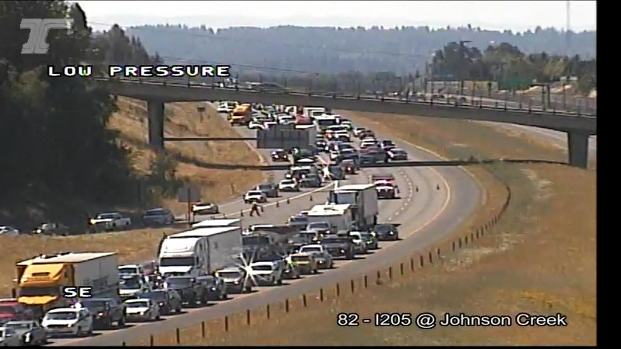 I-205 at Johnson Creek (Courtesy: ODOT)