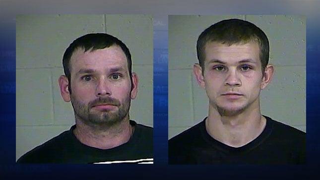 Brandon Goodson (left), Justin Willard jail booking photos