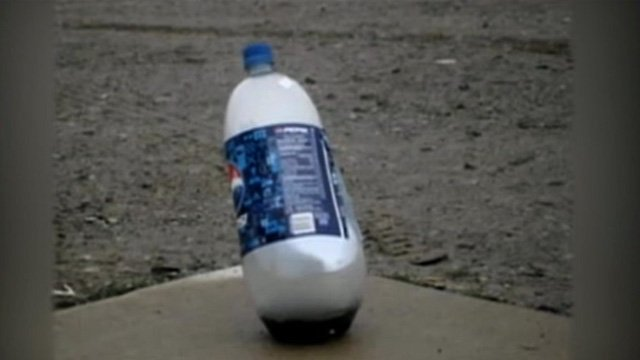 Police said the pop bottle bombs were similar to this one. (Photo: Clark County Sheriff's Office)