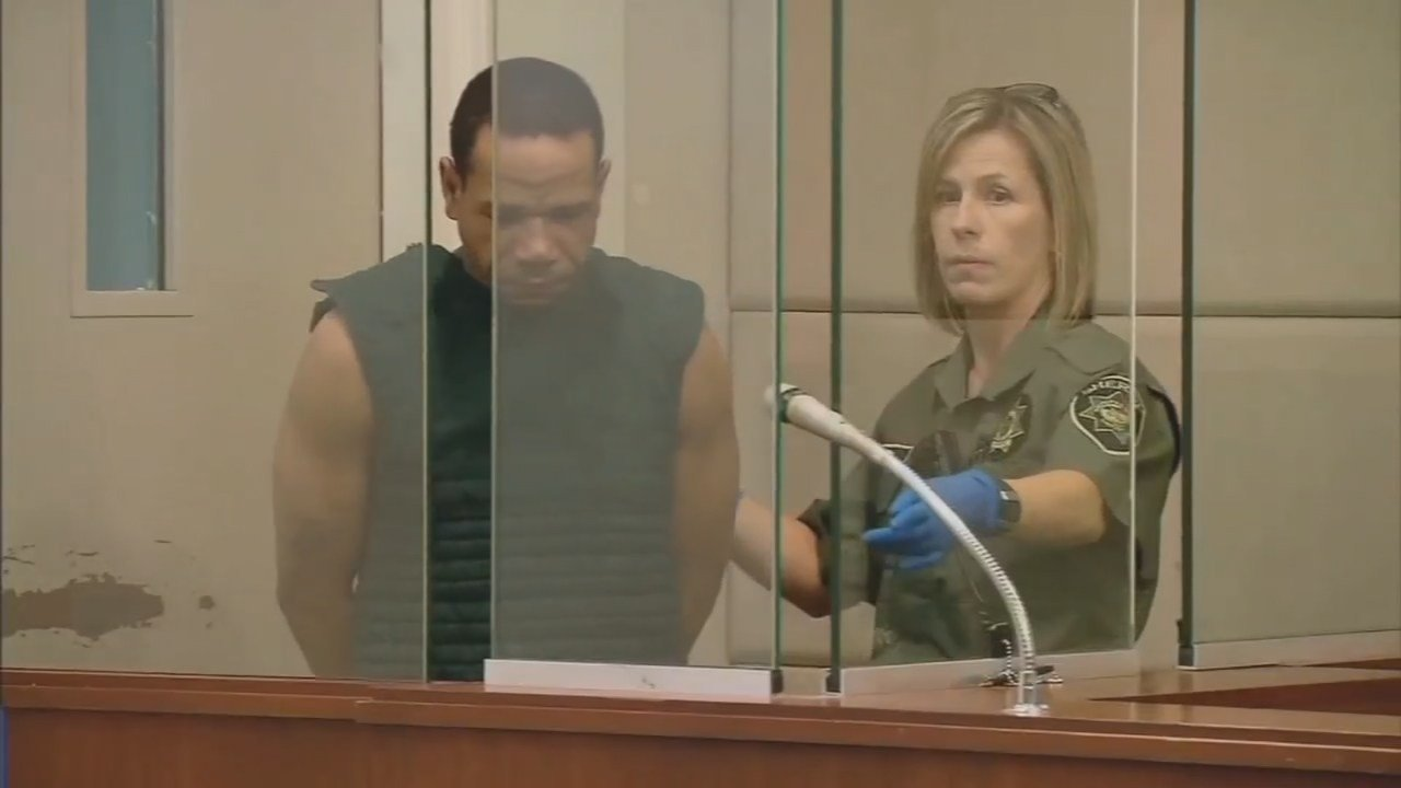 Themba Kelley, seen here in court in 2014, was arrested again this week after police said he broke into a 16-year-old's bedroom, just months after breaking into another woman's apartment. (KPTV)