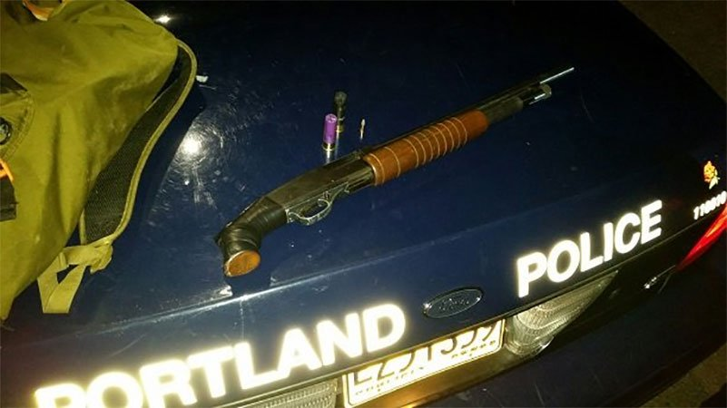 Police found a bag at the scene of the reported gunfire containing a pistol grip shotgun and a spent shell. (PPB)