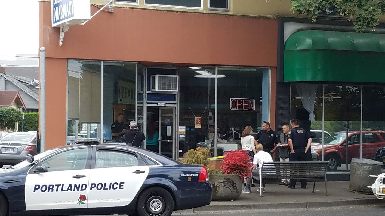 Portland police responded to an armed robbery at Paulsen's Pharmacy in the Hollywood neighborhood just before 11:00 a.m. Tuesday. (KPTV)