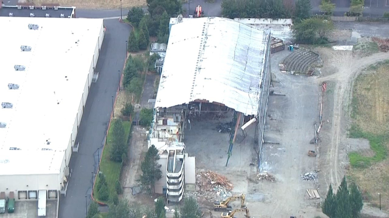 Multnomah Greyhound Park demolition. (Photo: KPTV)