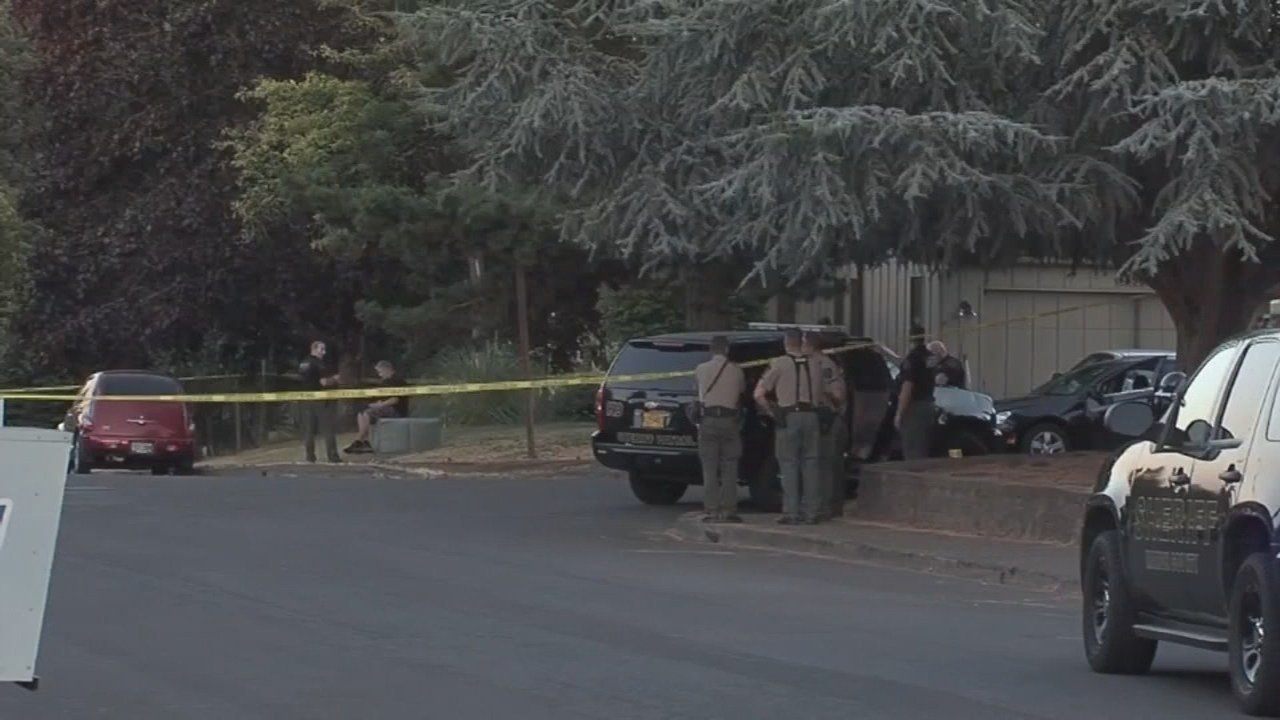 Deadly shooting scene in Salem. (Image: KPTV)