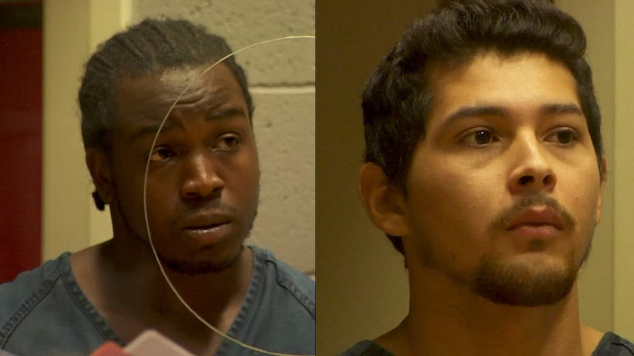 Murder suspects Denzel Hawhtorne and Eloy Carrera Jr. appeared in court Wednesday. (Image: KPTV)