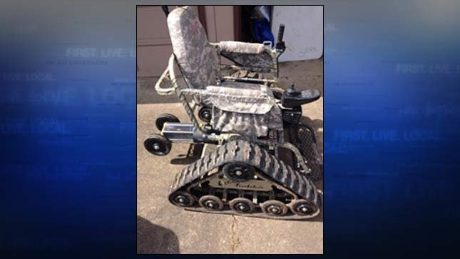 Photo of stolen wheelchair released by Polk County Sheriff's Office