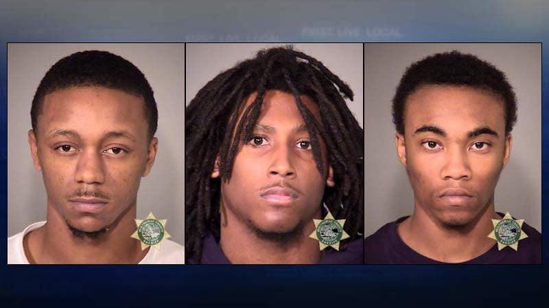 Jiante Carter, Vontrell Mills, Malik Stephens, jail booking photos