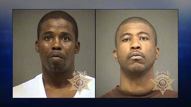 Terrell Hall, Aaron Hibbler, jail booking photos