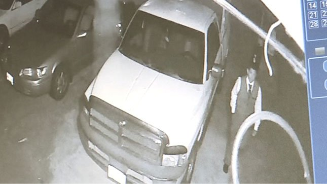 Image of thief from surveillance video.