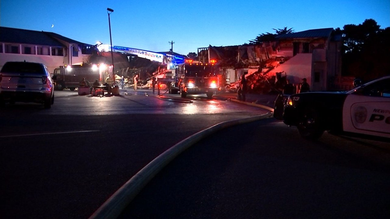 City Center Motel fire in Newport. (Image: KPTV)