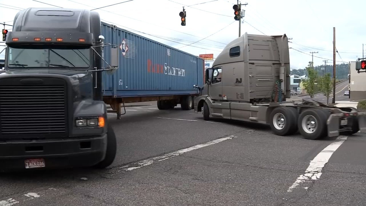 According to estimates, the closure of two shipping operations at the Port of Portland have led to 2,000 more trucks every day on local highways and city streets. (KPTV)