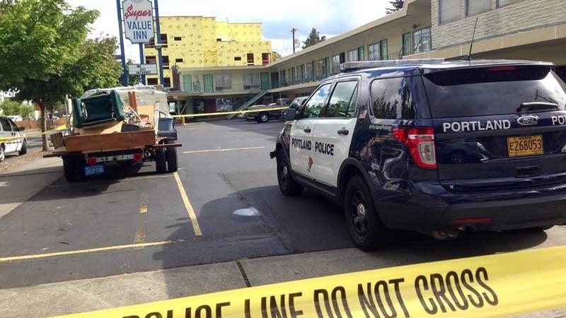 Suspicious death investigation at Super Value Inn in north Portland on Monday. (Photo: Portland Police Bureau)