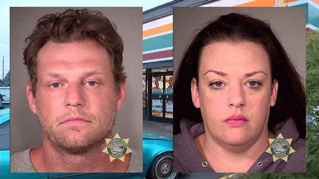 Russell Courtier and Colleen Hunt, jail booking photos