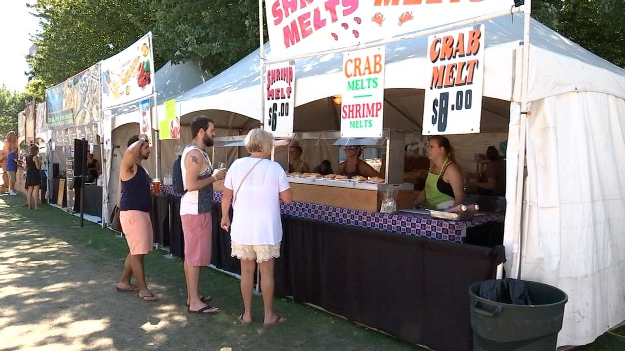 The vendors and visitors at Bite of Oregon will face temperatures in the 90s at Waterfront Park this weekend. (KPTV)