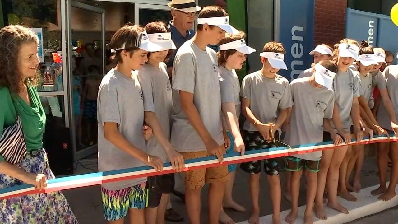 Ribbon cutting at Grant Pool in northeast Portland (Source: KPTV)
