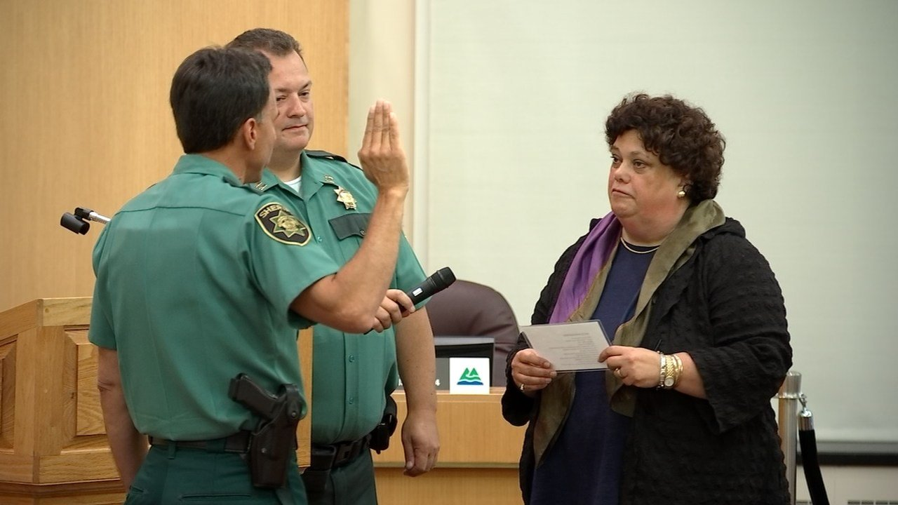 Interim Multnomah County Sheriff Mike Reese was sworn in Wednesday. (Source: KPTV)