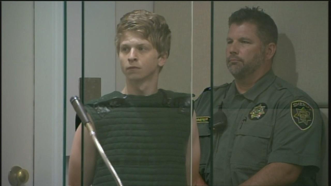 Taylor Kraig in court Wednesday.
