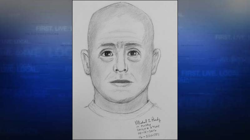 Suspect sketch of police officer impersonator. (Image: Beaverton Police Department)