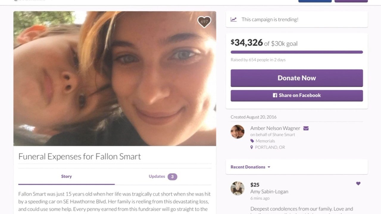 A GoFundMe page was started for Fallon Smart, who was set to be a sophomore at Franklin High School. (Image: GoFundMe)