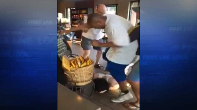 Image from video of altercation in Vancouver Starbucks. (Courtesy: Filipelli Realty)