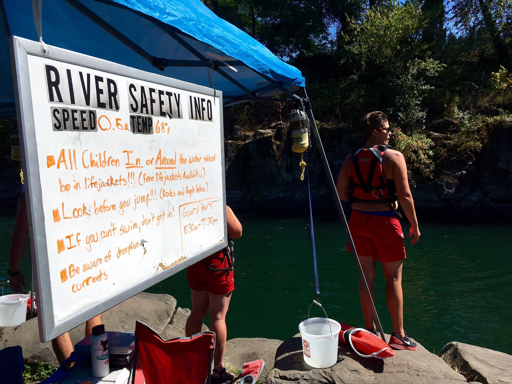 The AMR River Rescue station at High Rocks. (KPTV)