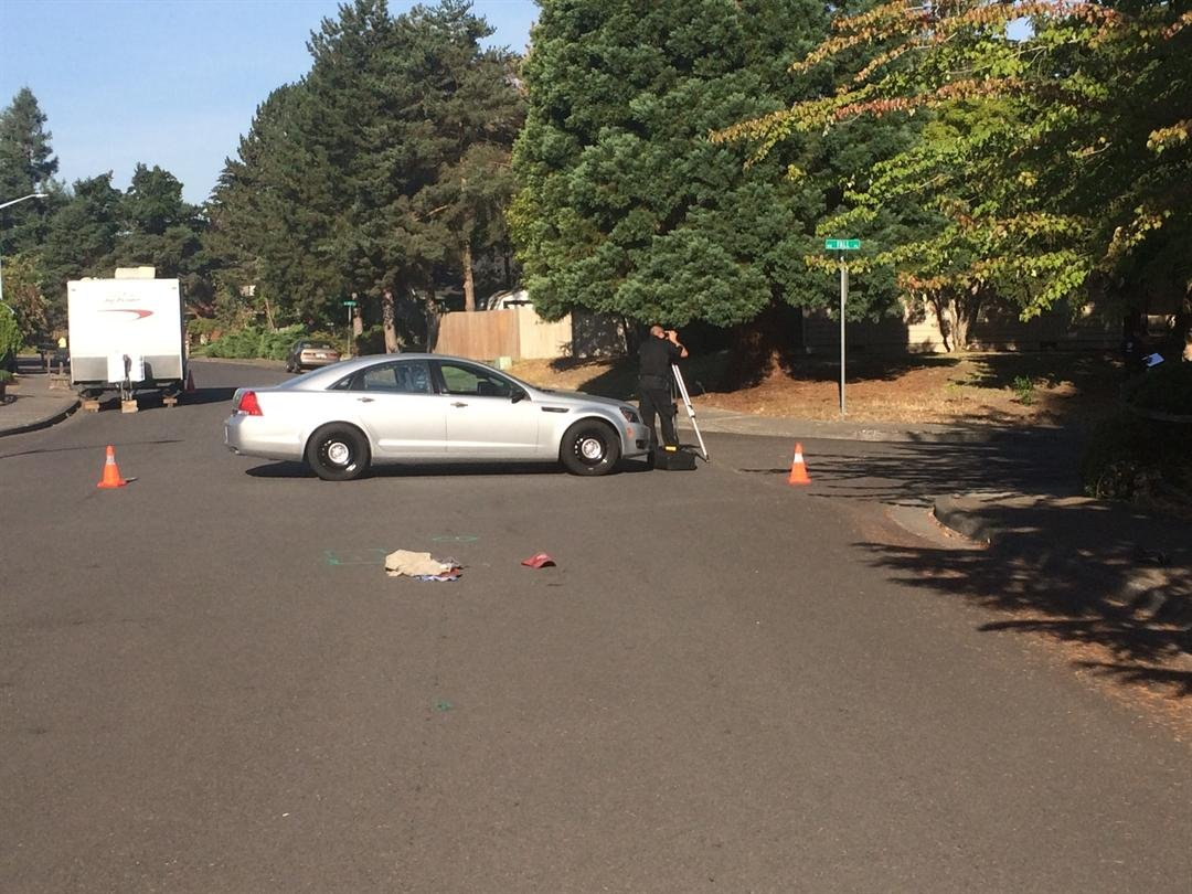 Scene of the crash (Courtesy: Beaverton Police Department)