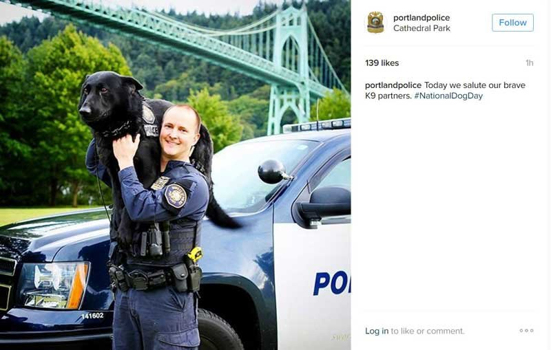Photo: Instagram/Portland Police Bureau