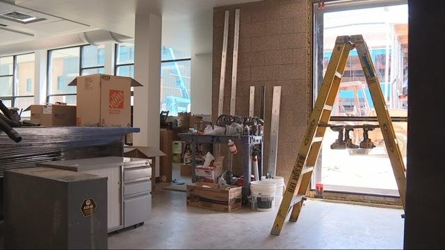 Students heading back to Roosevelt HS will find new labs and continued construction