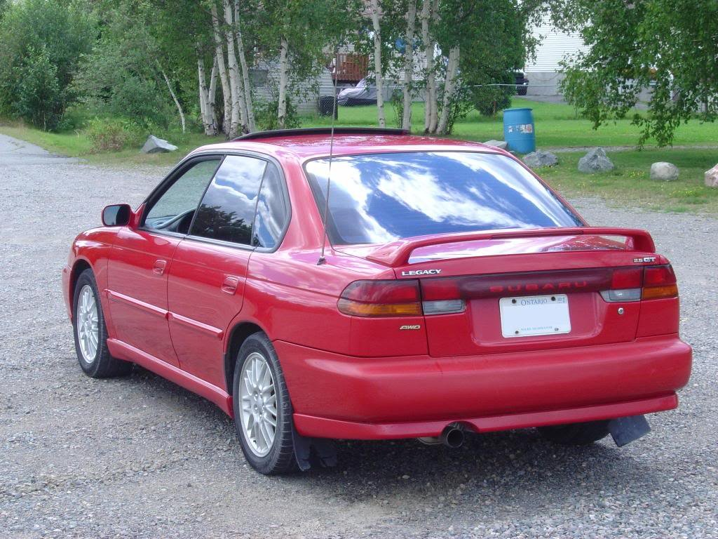 Deputies said Shieler was last seen in a red four-door Subaru Legacy like the one seen here. (Deschutes Co. Sheriff's Office)