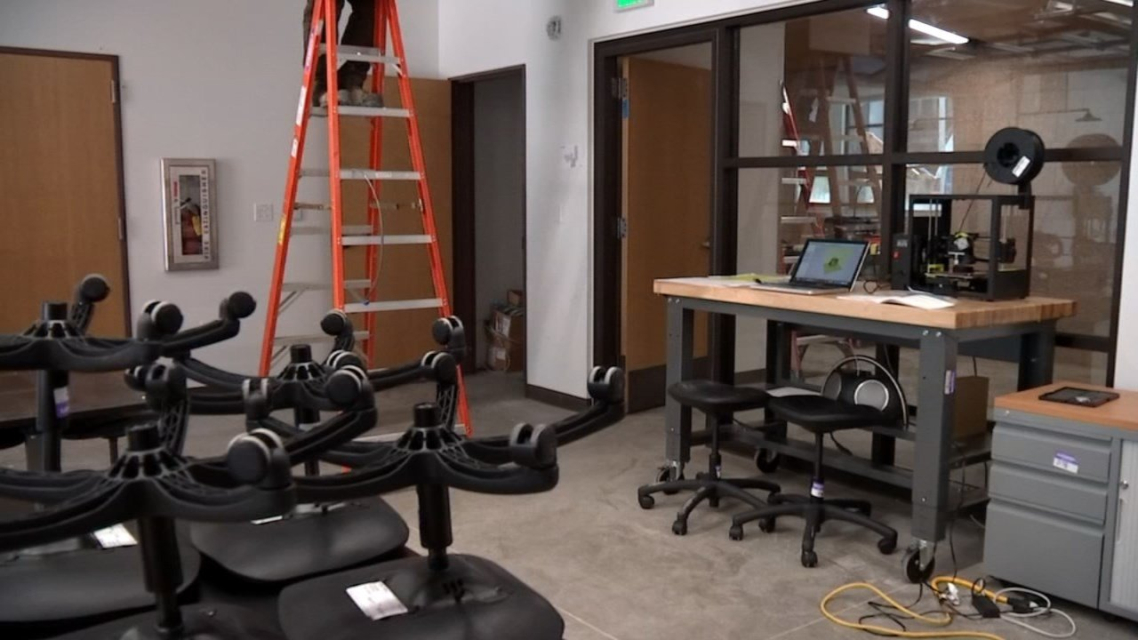 Ongoing construction work, part of a $100 million renovation project, kept students at Roosevelt High School in Portland out of class one extra day. (KPTV)