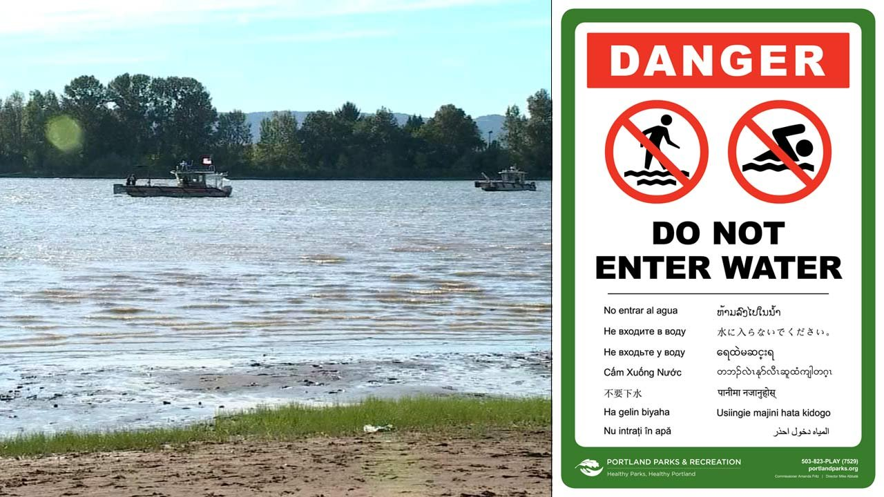 New signs have been installed at Kelley Point Park in Portland. (Images: KPTV/Portland Parks & Recreation)