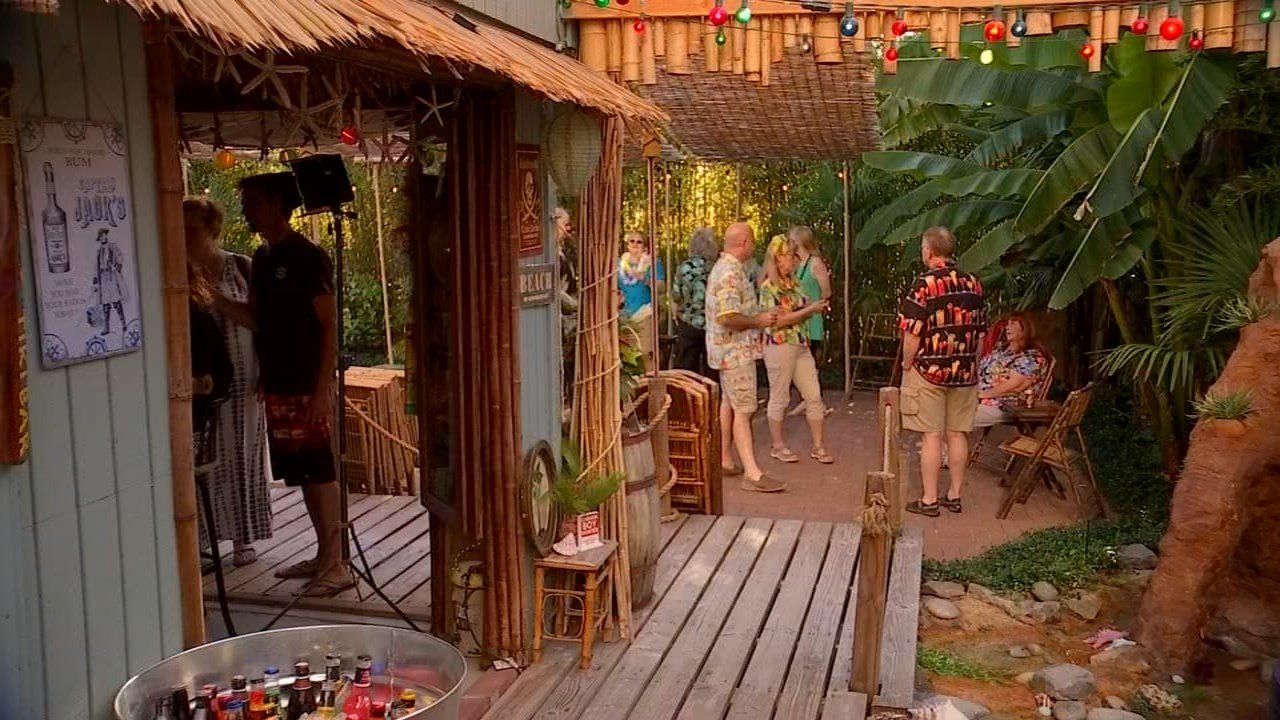 local man builds tropical oasis in backyard by hand kptv fox 12