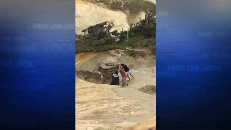 Video shows vandals destroying popular Oregon rock formation