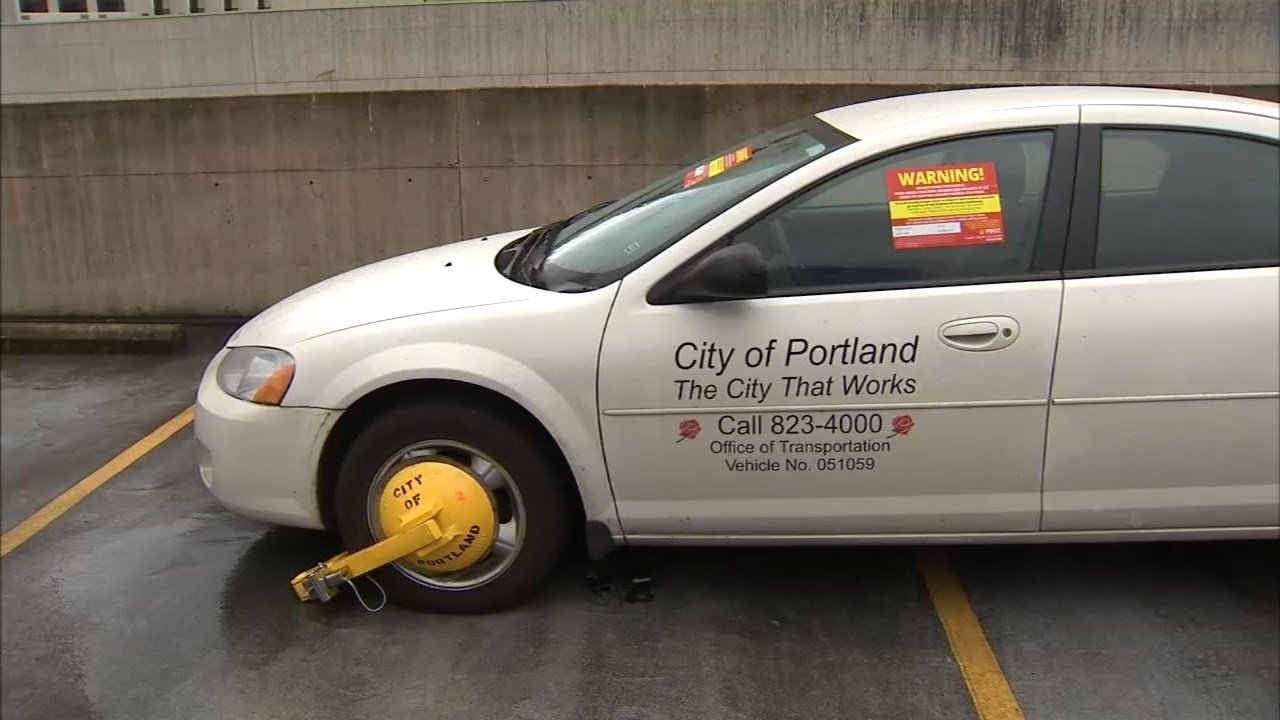 Portland Bureau of Transportation boot (KPTV)