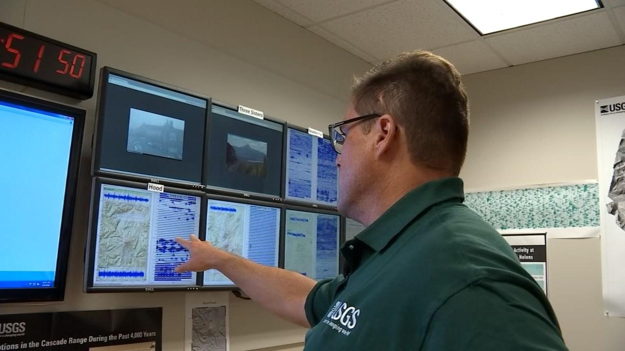Benjamin Pauk, geophysicist with the USGS Cascades Volcano Observatory. (KPTV)