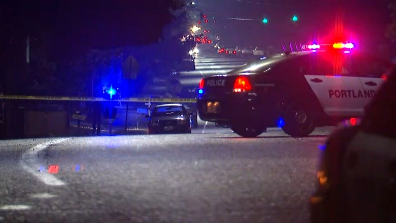 A pedestrian was hit by a car at Southeast 148th and Division Street in Portland. (KPTV)
