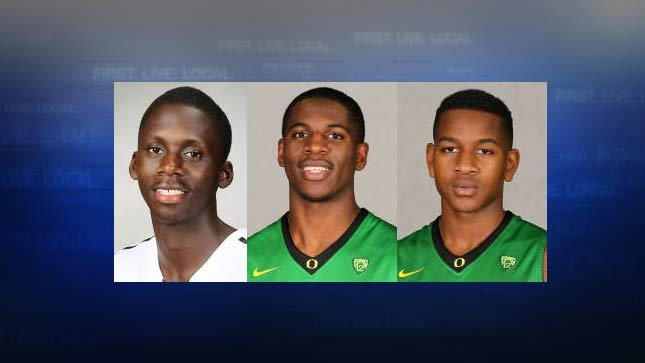 Brandon Austin, Damyean Dotson, Dominic Artis. Photos: University of Oregon Athletic Department 2014