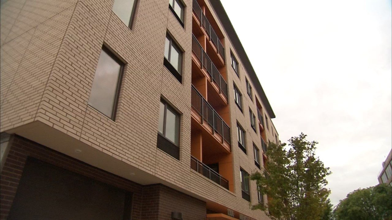 Miracles Central, a new 47-unit affordable housing complex in Portland's Lloyd District, opened Thursday and will offer on-site support services. (KPTV)