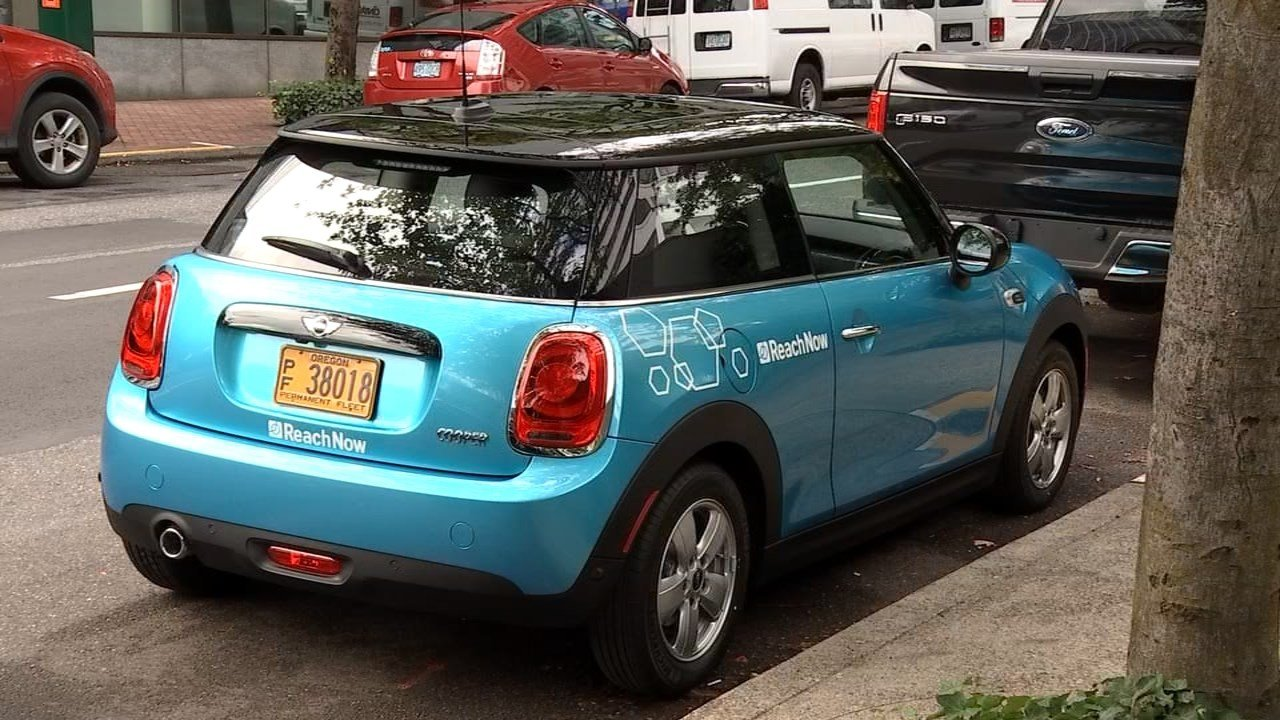 BMW's ReachNow car-sharing program will offer drivers to use BMWs and MINIs available around Portland for the price of 41 cents per minute. (KPTV)