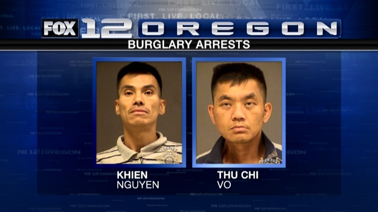 Khien Nguyen and Thu Chi Vo were arrested in connection to one burglary in Hillsboro. (Jail booking photos)