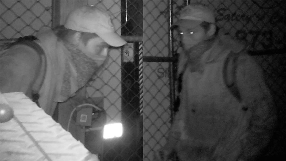 Staff at the Wooden Nickel in Silverton used wildlife cameras to catch a man climbing into storage cages outside the restaurant to take tools. (KPTV)